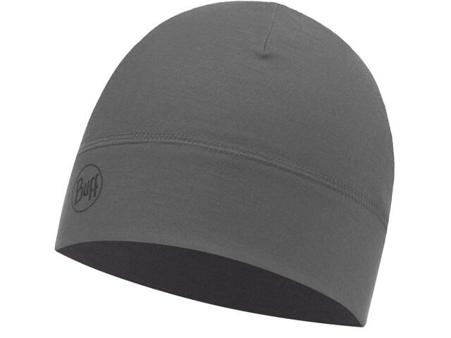 Buff Microfiber 1 Layer Hat Solid Grey Castlerock